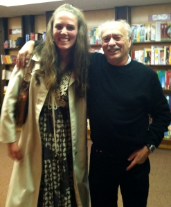 With Jim at his Invisible Strings reading, Micawber's bookstore, St. Paul, MN, May 2011.