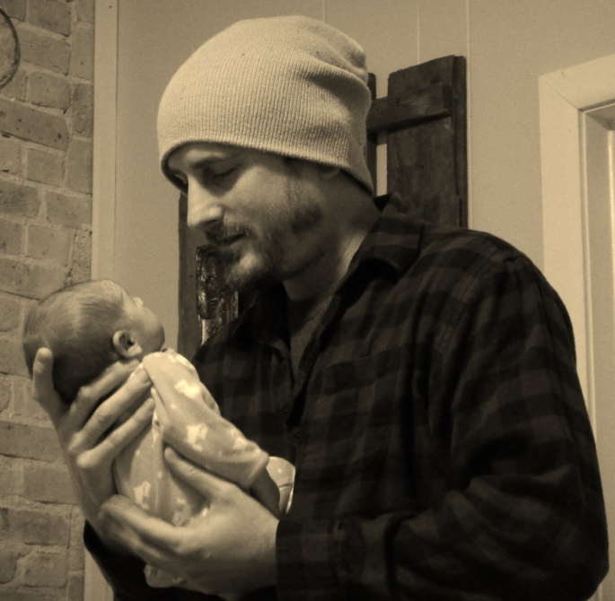 My brother Ted and his beautiful new baby daughter Stevie,