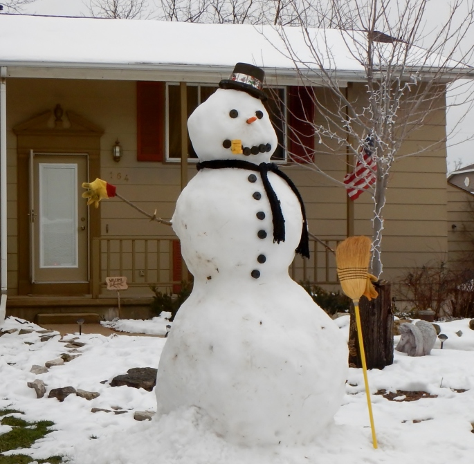 And just the best snowman I've seen in a while.