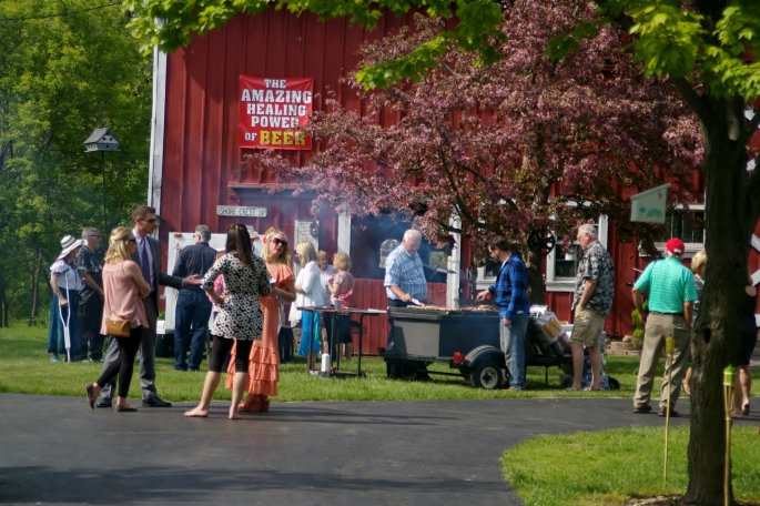 In true Wisconsin style, brats and beer underway immediately upon arrival. Photo credit Ty F. Webster.