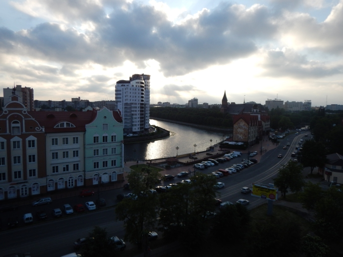 View from our digs in Kaliningrad.