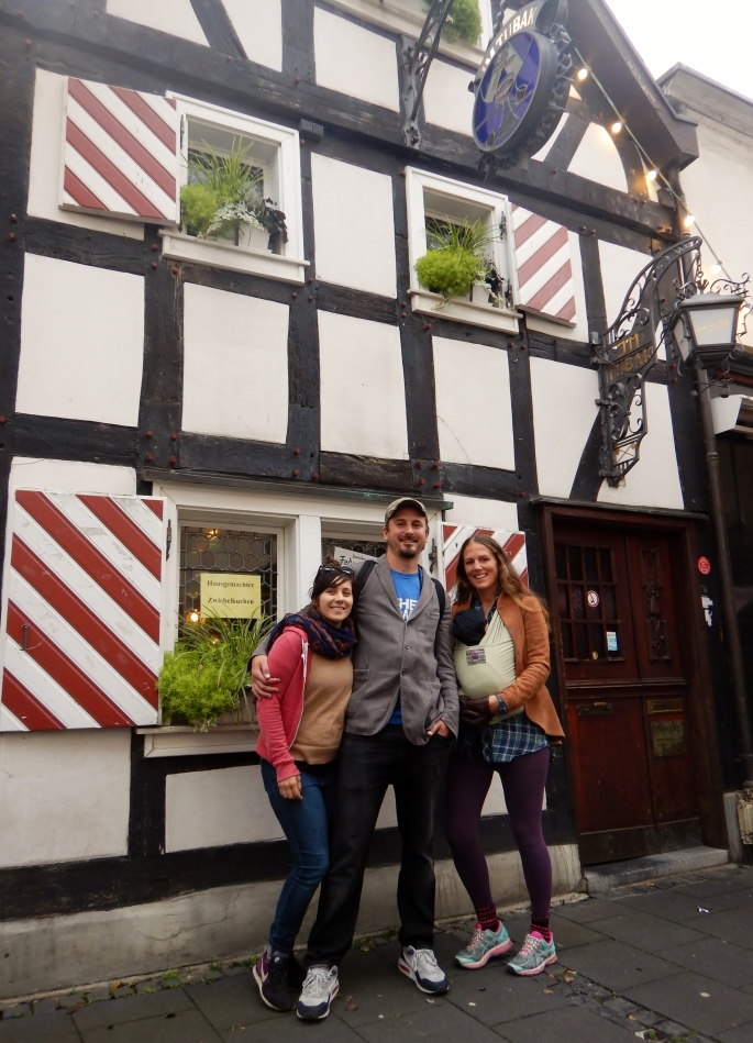 Nina, Ted, Imogen and I at Im Tubak, our favorite pub in Konigswinter.