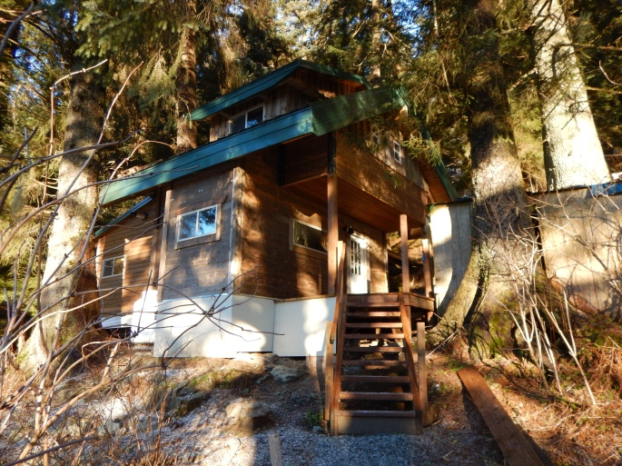 Our cabin on the edge of Tongass National Forest in Juneau