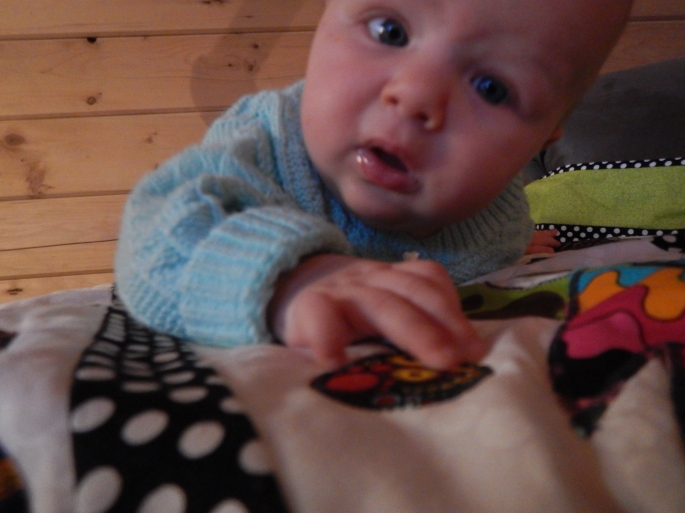 Now in Juneau we are making real progress at tummy time